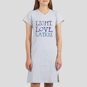 Light. Love. Latkes. Women's Nightshirt