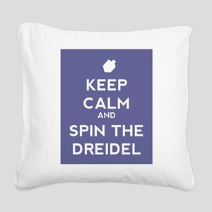 Keep Calm and Spin the Dreidel Square Canvas Pillo