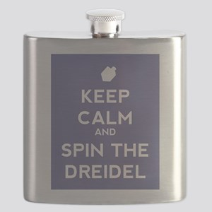 Keep Calm and Spin the Dreidel Flask