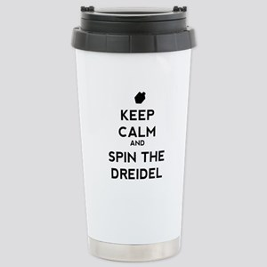 Keep Calm and Spin the Dreidel Stainless Steel Tra