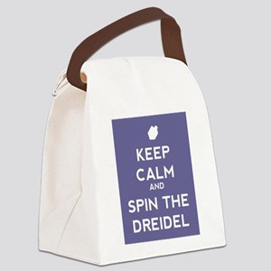 Keep Calm and Spin the Dreidel Canvas Lunch Bag