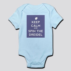 Keep Calm and Spin the Dreidel Infant Bodysuit