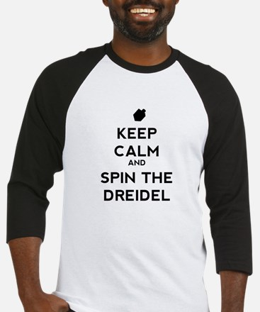 Keep Calm and Spin the Dreidel Baseball Jersey