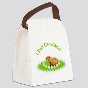 I love Capybaras Canvas Lunch Bag