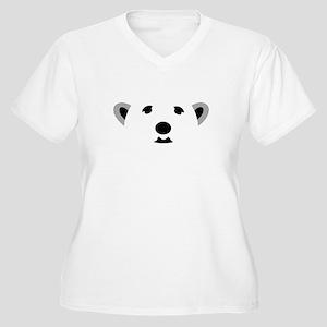 Polar Bear Women's Plus Size V-Neck T-Shirt