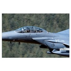 F-15E Strike Eagle low flying over Wales, United K Poster