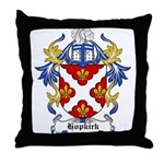 Hopkirk Coat of Arms Throw Pillow
