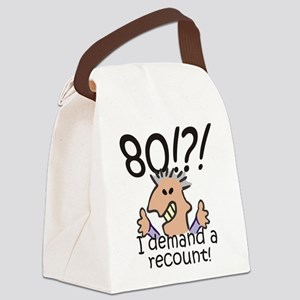 Recount 80th Birthday Canvas Lunch Bag
