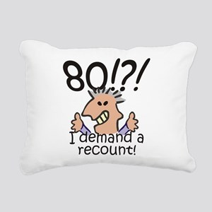 Recount 80th Birthday Rectangular Canvas Pillow