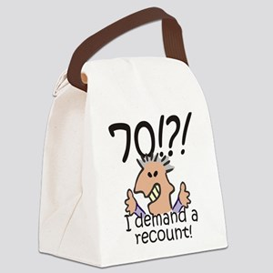 Recount 70th Birthday Canvas Lunch Bag