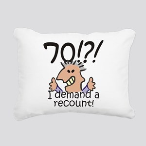 Recount 70th Birthday Rectangular Canvas Pillow