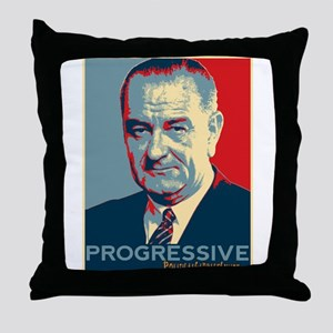 "LBJ - ""Progressive"" Throw Pillow"