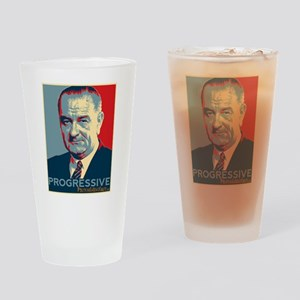 "LBJ - ""Progressive"" Drinking Glass"