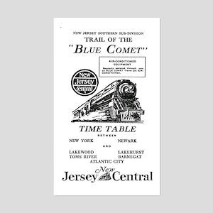 The Blue Comet Rectangle Sticker