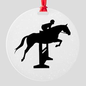 Hunter Jumper Over Fences Round Ornament