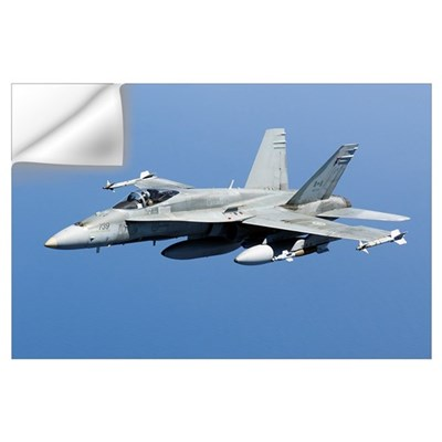 A CF-188A Hornet of the Royal Canadian Air Force Wall Decal