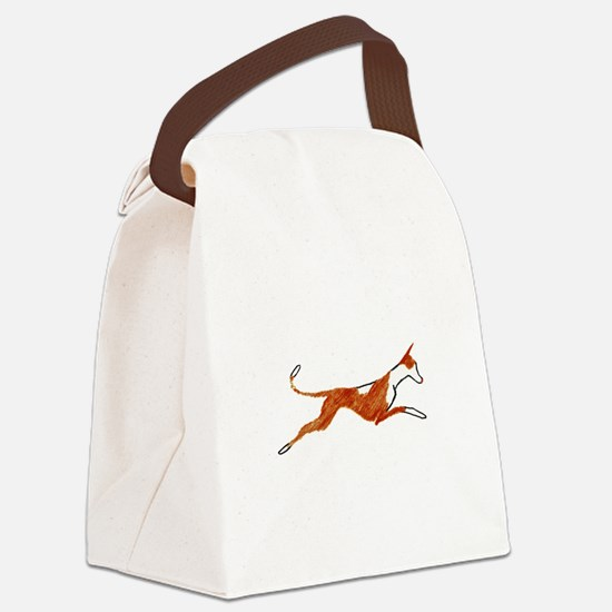 Leaping Ibizan Hound Canvas Lunch Bag