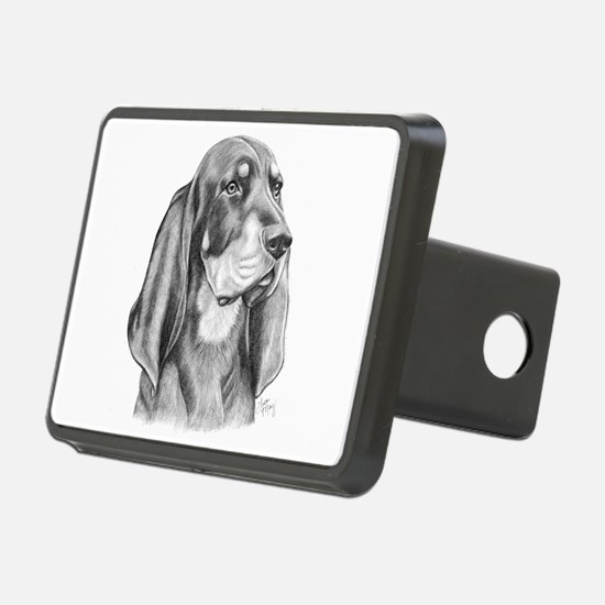 Black and Tan Coon Hound Hitch Cover