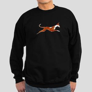 Leaping Ibizan Hound Sweatshirt (dark)
