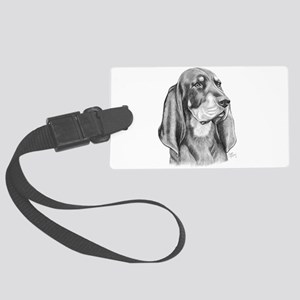 Black and Tan Coon Hound Large Luggage Tag