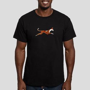 Leaping Ibizan Hound Men's Fitted T-Shirt (dark)
