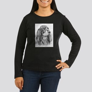 Black and Tan Coon Hound Women's Long Sleeve Dark