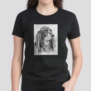 Black and Tan Coon Hound Women's Dark T-Shirt