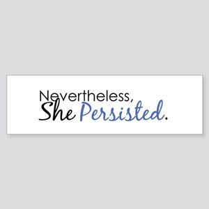 She Persisted Sticker (Bumper)