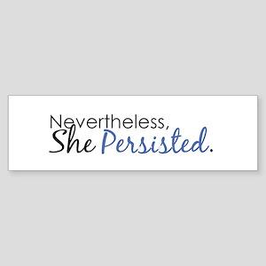 She Persisted Sticker (Bumper)