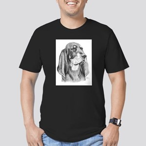Black and Tan Coon Hound Men's Fitted T-Shirt (dar