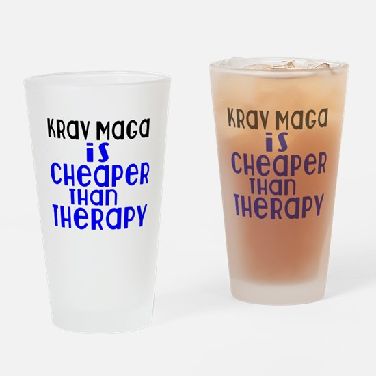 Krav Maga Is Cheaper Than Therapy Drinking Glass