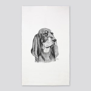 Black and Tan Coon Hound 3'x5' Area Rug