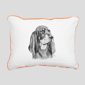 Black and Tan Coon Hound Rectangular Canvas Pillow