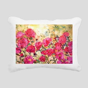 Pink Peony Rectangular Canvas Pillow