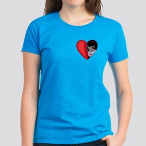 2-Sided Half My Heart Women's Dark T-Shirt