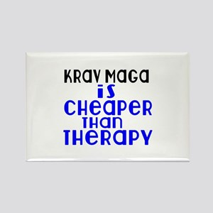 Krav Maga Is Cheaper Than Therapy Rectangle Magnet