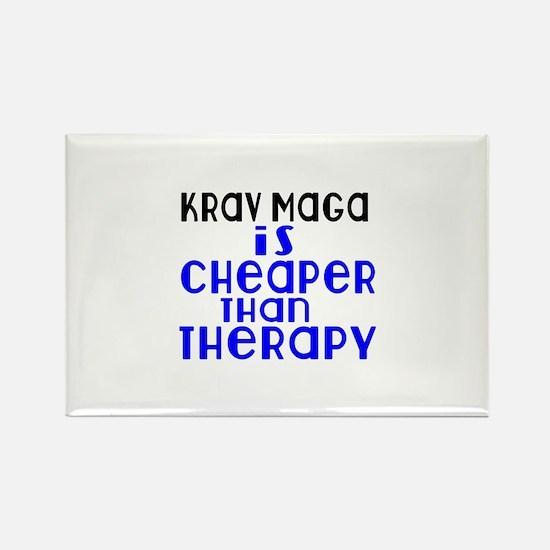 Krav Maga Is Cheaper Th Rectangle Magnet (10 pack)