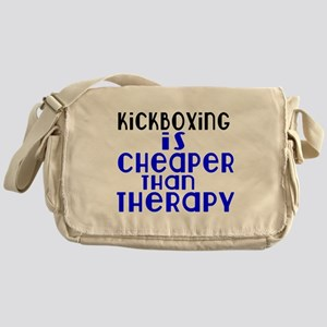 kickboxing Is Cheaper Than Therapy Messenger Bag