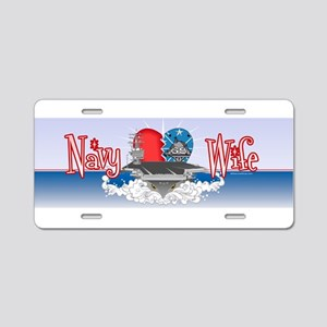 Navy Wife Aluminum License Plate