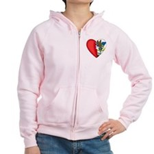 2-Sided Half My Heart Women's Zip Hoodie