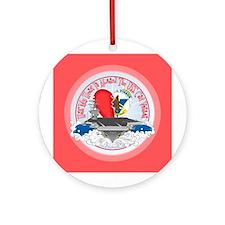 Half My Heart Ornament (Round)