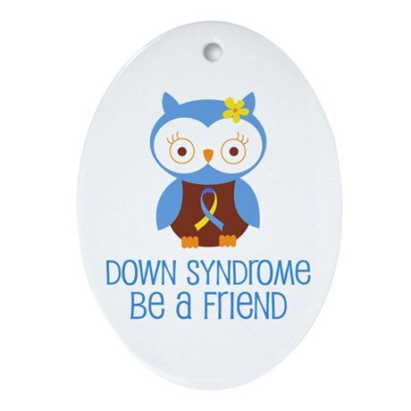 Down Syndrome Friend Ornament (Oval)