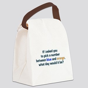 Confused and dazed Canvas Lunch Bag