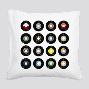 Records Square Canvas Pillow