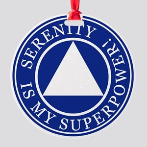 Serenity Superpower Round Ornament