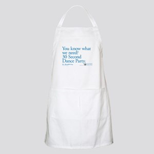 30 Second Dance Party Quote Apron
