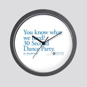 30 Second Dance Party Quote Wall Clock