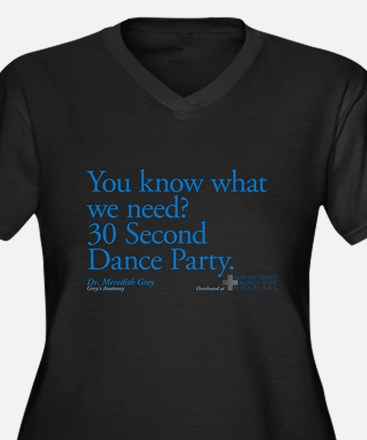 30 Second Dance Party Quote Women's Dark Plus Size
