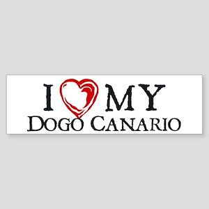 I Heart My Dogo Canario Sticker (Bumper)