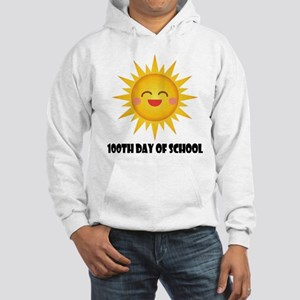 100th Day Of School Sun Hooded Sweatshirt